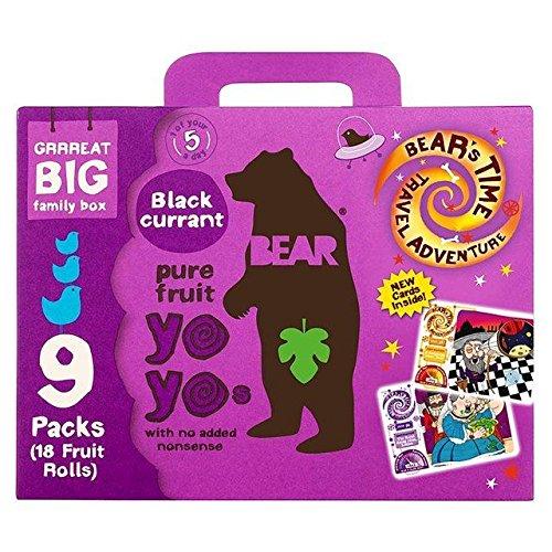 Bear Fruit Yoyos Blackcurrant Family Pack - 9 x 20g