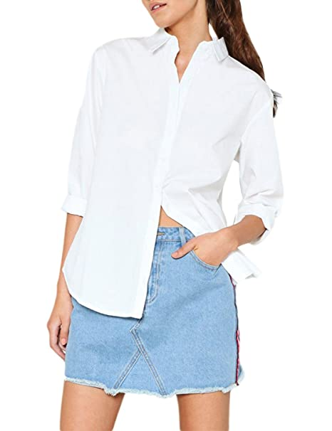 IRISIE Women Boyfriend Button Down Back Split Long Sleeve Shirt at Amazon  Women s Clothing store  80312e364d