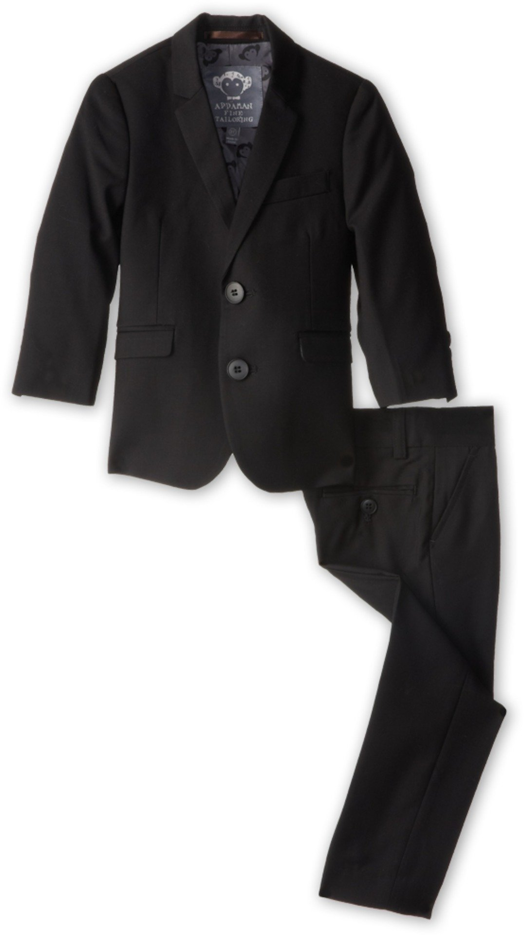 Appaman Little Boys' Two Piece Mod Suit, Black, 6