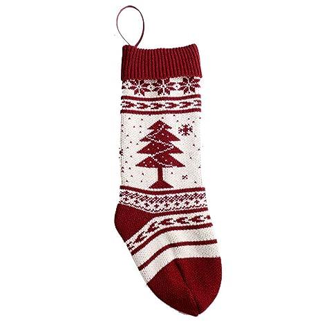 Decoración de mesa medias de navidad Calcetines colgantes Bolsa Decoraciones para árboles Adornos de navidad regalo