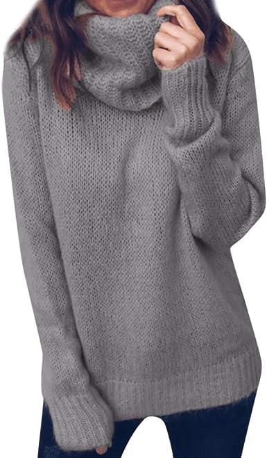 ITISME 2019 Mode Femme Pas Cher Pull Mode Automne Hiver Chaud Manches Longues Solides Col roulé tricoté Chandail Sauteur Arrêtez Vous Top Blouse