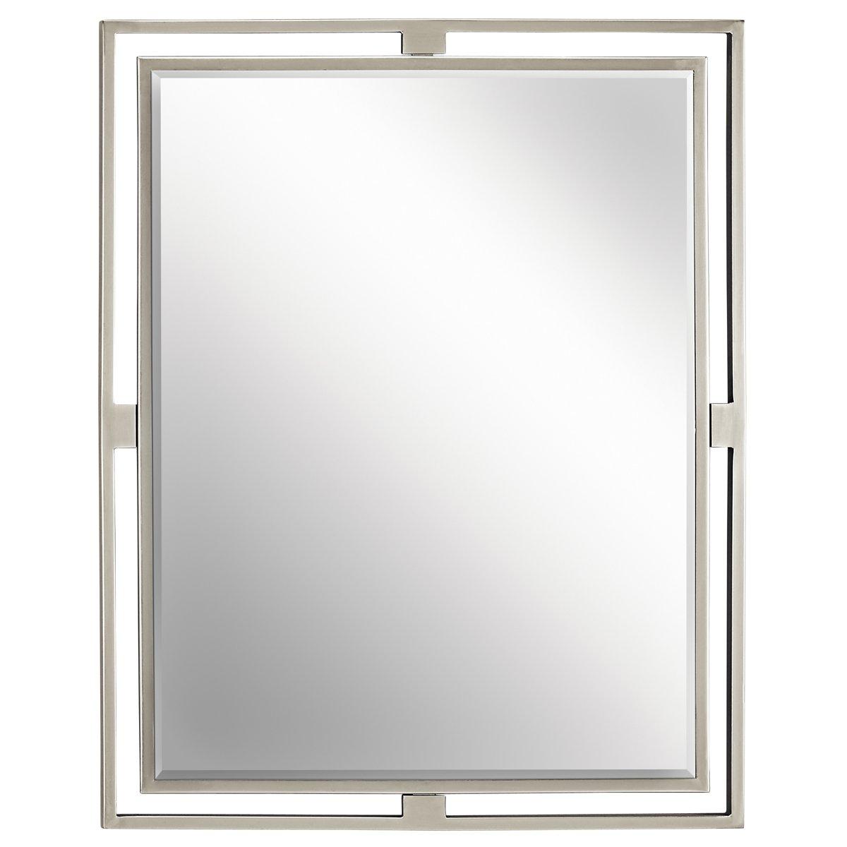 Brushed nickel bathroom mirror - Brushed Nickel Bathroom Mirror 50