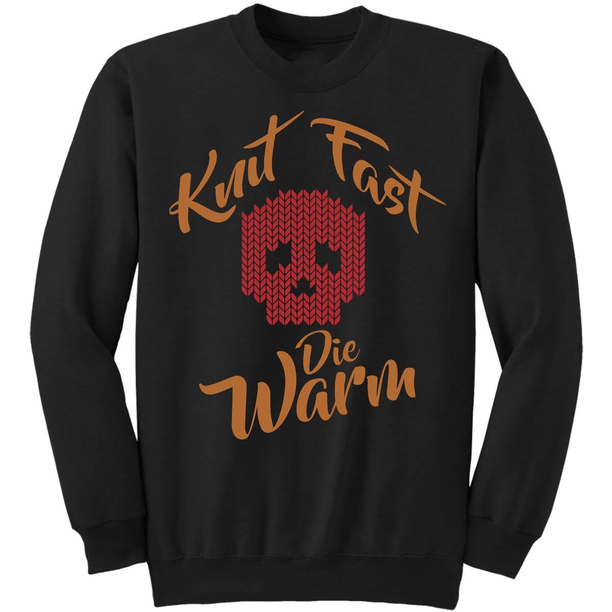 Skull Sweatshirt DoozyGifts99 Knit Knitting-Knit Fast Die Warm