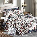 Virah Bella Southwestern Feathers 5pc King Quilt Set / Western Ranch Bedding