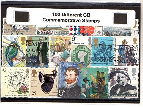 100 Different Great Britain GB Commemorative only Including Christmas Packet of Stamps - Ideal Great Britain Starter Collection Beaky Duck