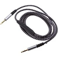 HOMYL Audio Auxiliary Cable with Mic, 3.5mm Audio Cable Male to Male Gold Plated AUX Cable with in-line Remote Control…