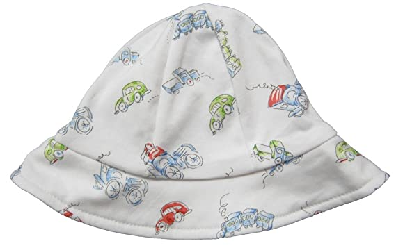 Kissy Kissy Baby-Boys Infant Vintage Vehicles Print Sunhat-White With  Gray-Small bfe882027bb9