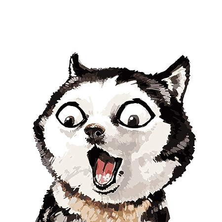 xingbu Sin marcoFronless Husky Erha Divertido Lindo Animal Moderno ...