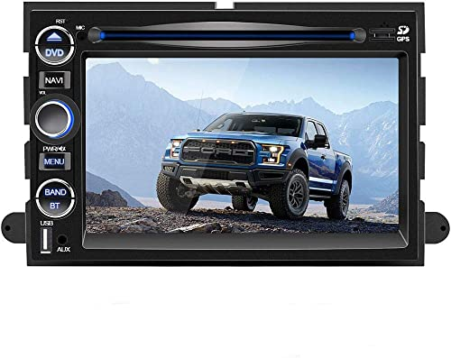 Car Stereo Radio,7 Inch Car Navigation Stereo for Ford, 2 Din DVD Player with Bluetooth,HD Touch Screen,FM Radio Mirror Link,Steering Wheel Control, CD, USB Stick and MicroSD Memory Card for F150