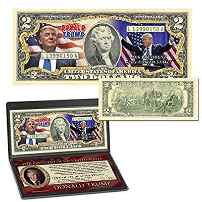 Donald Trump 45th President Colorized $2 Bill: Everything Else