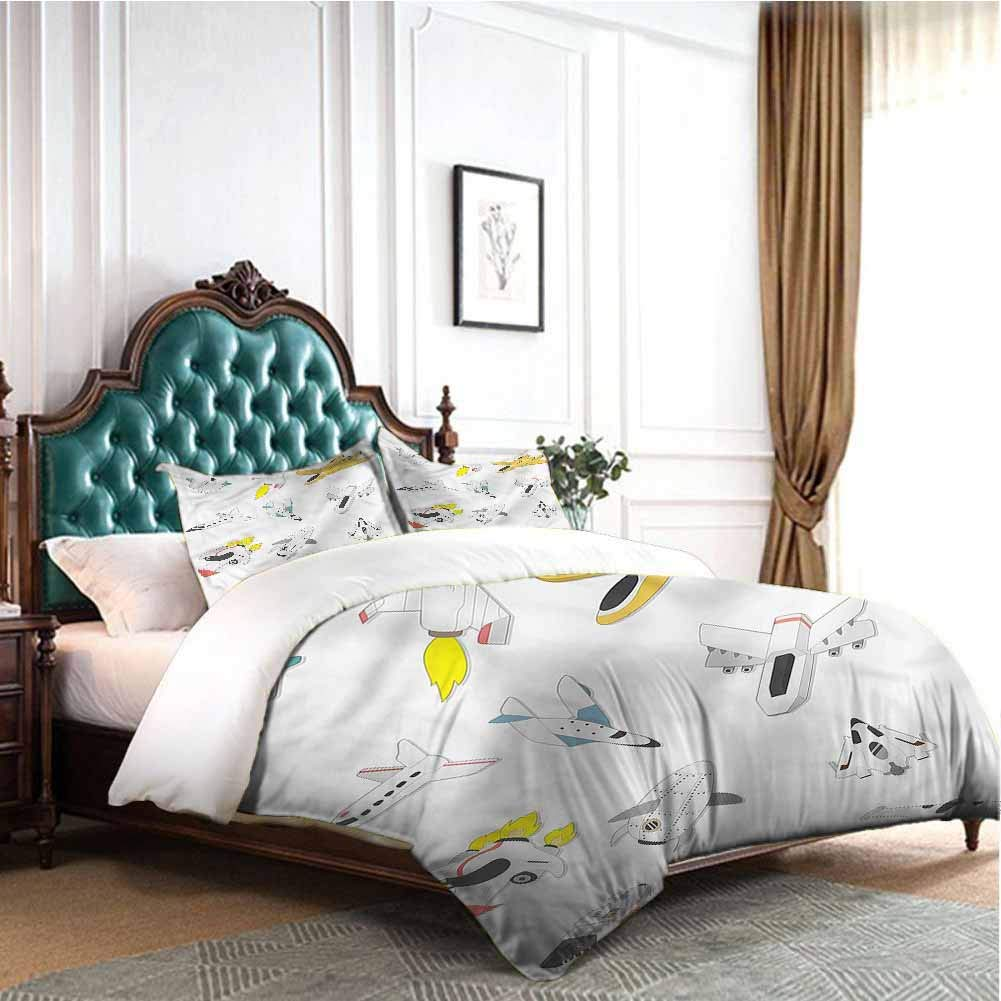 Jktown Boys Sheet Set Microfiber Bedding Traveling into The Space Extra Soft Deep Pockets Twin