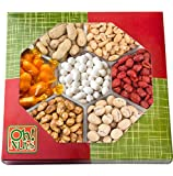 #4: Fathers Day Nuts Gift Tray 7 Variety Assortment, Gourmet Food Gift, Beautiful Packaged Nuts in Gift Box, Awesome Flavored Peanuts Gift - Oh! Nuts (Flavored Nuts Assortment)