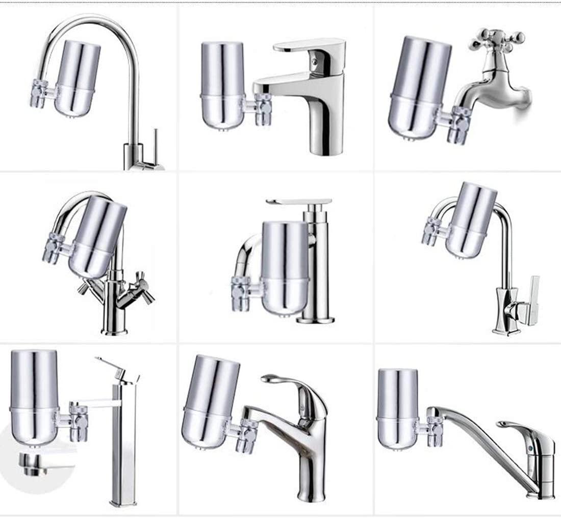 Stainless-Steel Reduce Chlorine High Water Flow with Ultra Adsorptive Material GENNISSY Faucet Water Filter