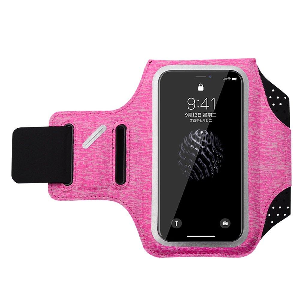 avec un sac /à main universel Huawei iPhone X // iPhone 8 manches de bras de remise en forme pour hommes et femmes peuvent toucher le sac de bras de contact Brassard de t/él/éphone en cours dex/écution