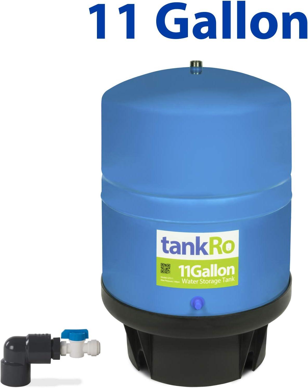 Large Reverse Osmosis Water Storage Pressure Tank by tankRO 11 Gallon RO Expansion Tank with FREE Tank Ball Valve