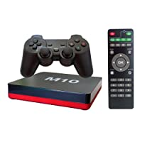 M10 Android TV Box Gamer Quad Core Cortex A9 Gpu Mali 450 WiFi Bluetooth Toslink Controle