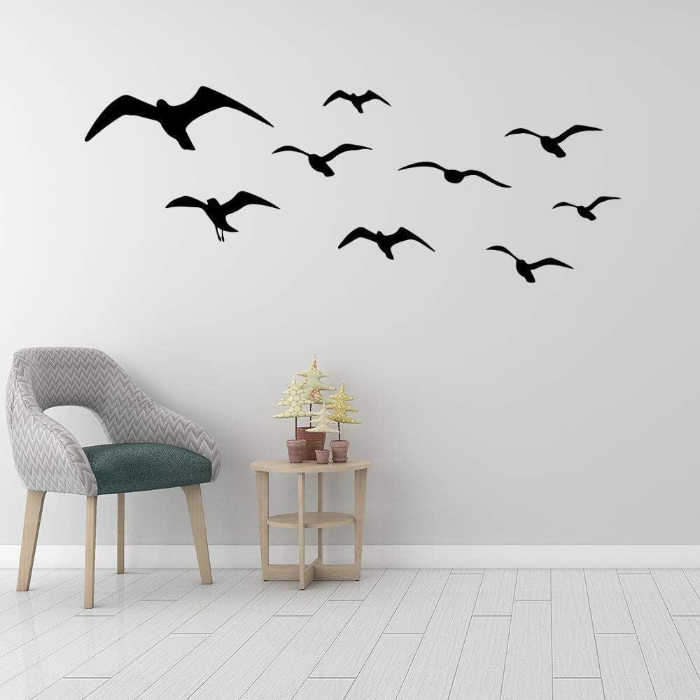 Bonito adhesivo de pared de PVC para pájaros domésticos para la decoración de la habitación de los niños, bonito mural creativo 43 x 82 cm