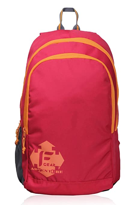 F Gear Castle Rugged Base 24 Liters Red Orange Backpack  Amazon.in ... 2dfa440c0772a