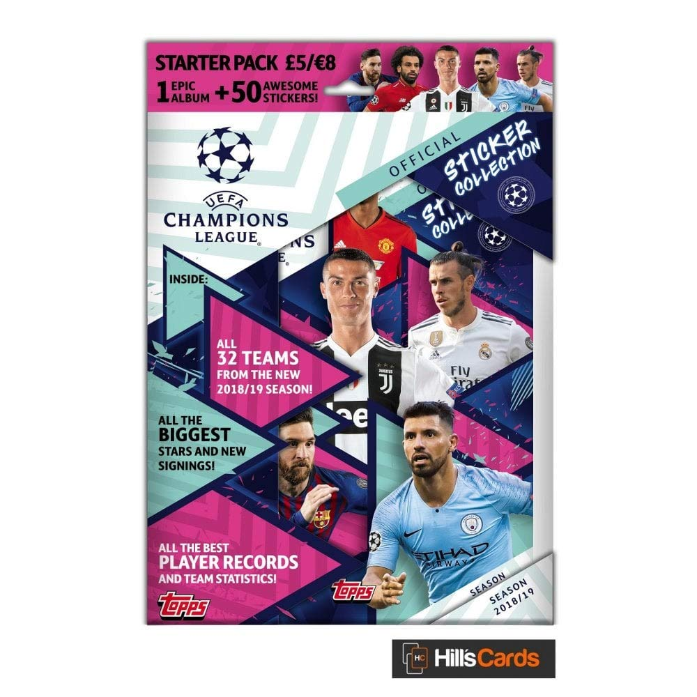 Album + 25 Stickers Starter Pack Topps 2018-19 Champions League Stickers