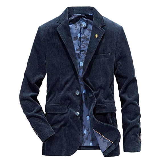 Herren Freizeit Business Anzuge Blazer Sakko Jacke Anzug Slim Fit Jacke Mantel