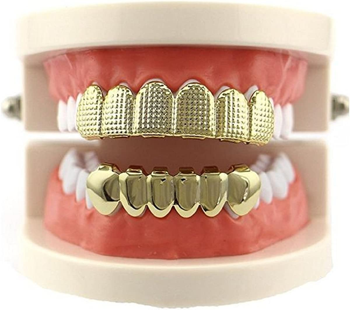 Amazon.com: mainlead Grid Top and 6 Bottom Grills Dientes ...