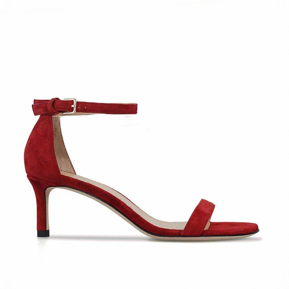 DIDIDD ein Wort mit Feinen Wilden Wild High Heels der Sandalen Rot 35