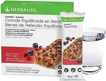 HERBALIFE Barritas Fórmula 1 Express Frutos rojos y yogur ...