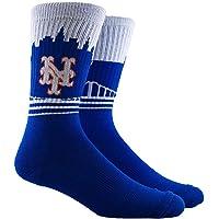 PKWY Unisex 1-Pack MLB Mets Crew Socks