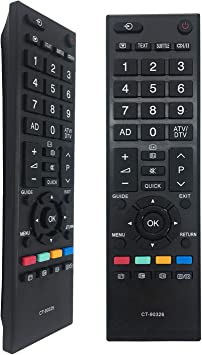 FOXRMT CT-90326 - Mando a distancia para Toshiba Regza LCD TV 39L2337DB 39L2337DG 40HL933G 40LV665D 40LV675 40LV675D 40LV685: Amazon.es: Electrónica