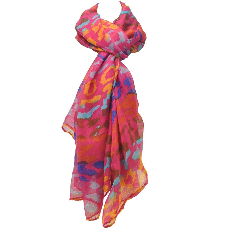 QS Women's Leopard Style Winter Warm Fashionable Chiffon Scarf