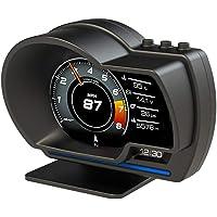 EstgoSZ Car HUD Head up Display Odometer, OBD2 GPS Dual System Speedometer, Clear Fault Code Turbine Pressure Oil/Water…