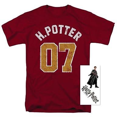 38a4a953 Amazon.com: Harry Potter Quidditch No. 7 Adult T Shirt [Front Print ...