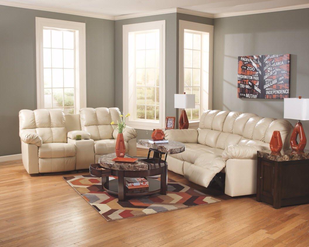 Ashley Furniture Signature Design - Kraleene Round Lift Top Coffee Table - 1 Fixed Shelf - Contemporary Living - Dark Brown