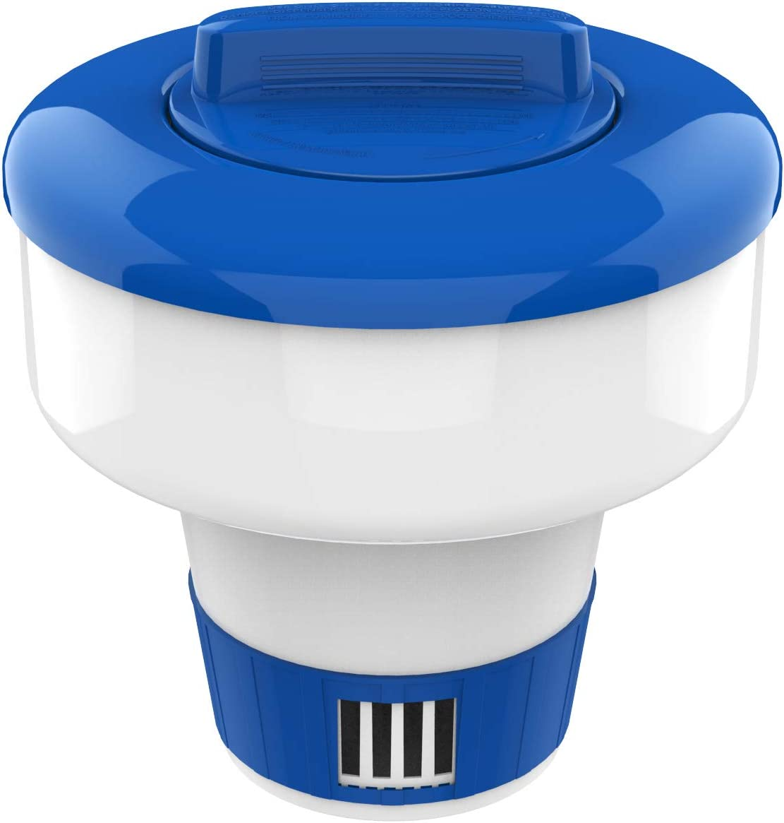 """Housolution 7-inch Floating Chlorine Dispenser, Large Capacity-Fits 3"""" Chlorine Tablets, Adjustable Release Tablet Floater for Indoor & Outdoor Swimming Pool SPA, Blue & White"""
