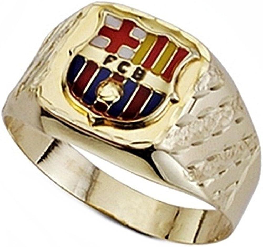 Sello escudo F.C. Barcelona oro de ley 9k tallado hueco [6548] - Modelo: 0510-051: Amazon.es: Joyería