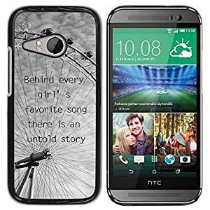 All Phone Most Case / Hard PC Metal piece Shell Slim Cover Protective Case for HTC ONE MINI 2 / M8 MINI Ferris Wheel London Eye Grey Clouds Black White