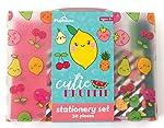 Playhouse Kawaii Cutie Fruitie - Juego de 29 piezas de papelería para niños