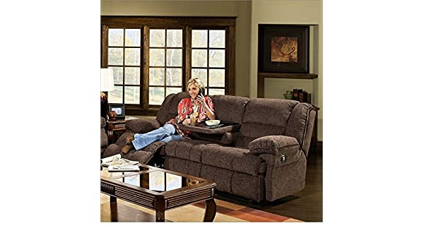 Amazon Simmons Upholstery 50410 Champion Double Motion Table Sofa Chocolate Kitchen Dining