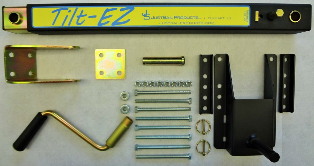 TiltEZ JSP120-TLZ Tilting System For Single Pole Tongue Snowmobile And ATV Trailers