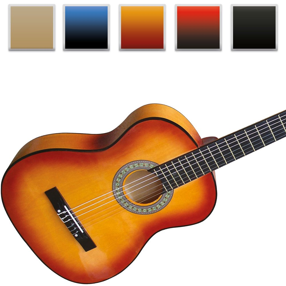 Jago Classical Acoustic Guitar 4/4 Full Size (Choice of Colour) Git-01braun