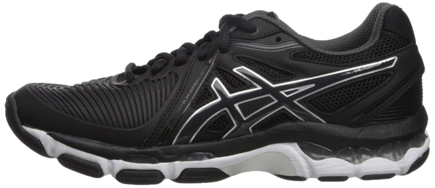 ASICS Women's Gel-Netburner Ballistic Volleyball-Shoes Grey/White B01N03DR4T 9.5 B(M) US|Black/Dark Grey/White Volleyball-Shoes ac4234