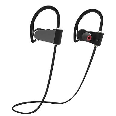 Peyou Auriculares Inalambricos Bluetooth Deportivos, IPX7 Impermeable Estéreo In-Ear Auriculares con Micrófono [