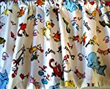 Cheap Valance Dr. Seuss Characters on White Background Window Topper Treatment Custom Made