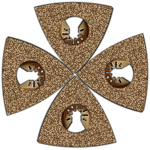 4 Pc Flooring Tile and Grout Rasp Oscillating Blades; Fits F