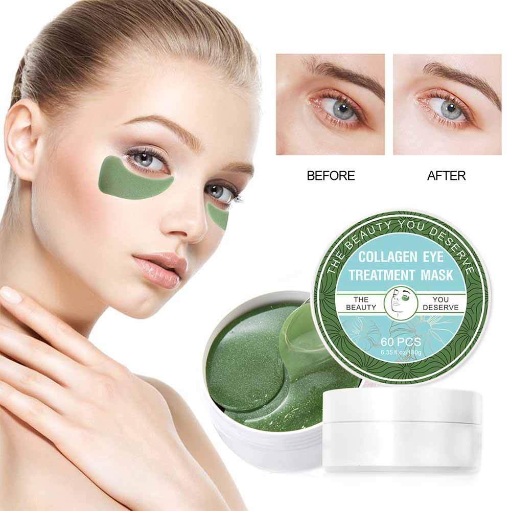 Vanelc Collagen Eye Mask-with Under Eye Patches, Dark Circles Under Eye Treatment, Under Eye Bags Treatment, Natural Eye Mask for Puffy Eyes, Anti-Wrinkle,Deep-Moisturizing, Gel Pads 30 Pairs by VANELC