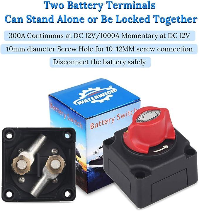 12-48V Marine Boat Battery Master Power Cut Off Kill Switch Disconnect Isolator
