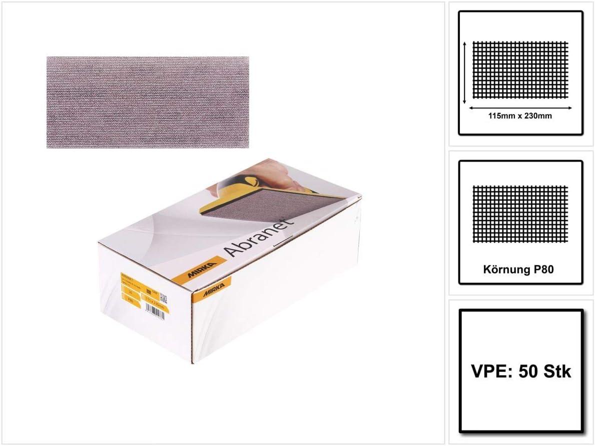 115 x 230 mm Mirka 5411205080 Presa Abranet P80 50 Pack PRO