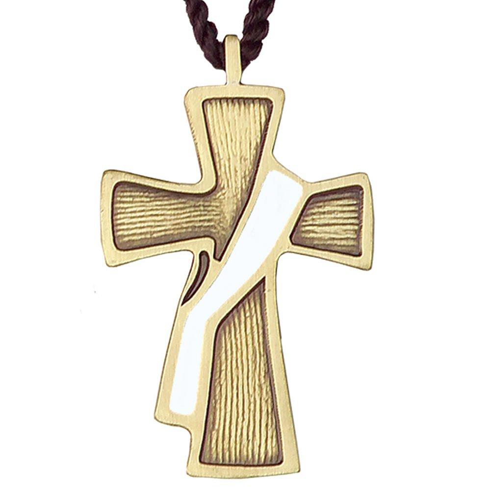 White Sash Deacon Cross