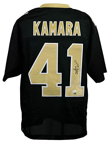 c6f7d526 Alvin Kamara Signed Custom Black Pro-Style Football Jersey JSA+SI COA at Amazon's  Sports Collectibles Store