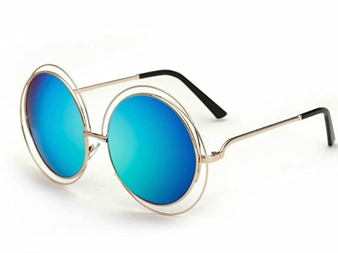 Amazon.com: Gafas de sol grandes redondas retro con lentes ...